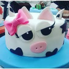 Tortas Infantiles On Instagram Cakes In 2019 Cow Birthday Cake