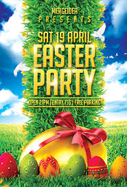easter party flyer template mergeidea easter party flyer template