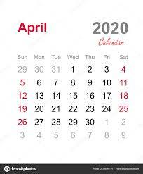 April 2020 Calendar Monthly Calendar Template 2020 Monthly