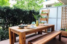modern dining table bench project plans