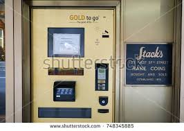 Gold Vending Machine Nyc Fascinating NEW YORK CITY USA 48 October 48 Gold ATM In NYC EZ Canvas