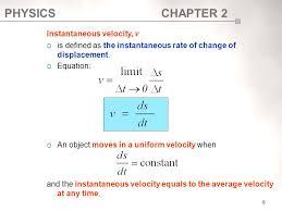 8 instantaneous velocity