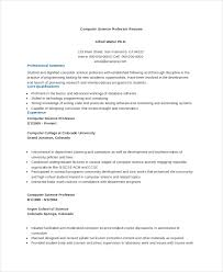 Computer Science Resume Sample New Computer Science Resume Example 28 Free Word PDF Documents