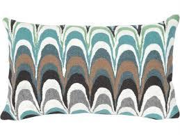 trans ocean rugs visions iii floating ink aqua indoor outdoor pillow tn341904