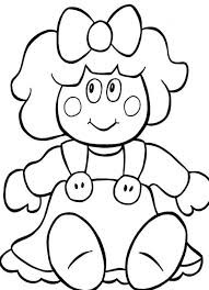 Small Picture Doll Coloring Pages 131