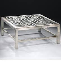 coffee table outstanding silver square unique metal glass and silver coffee table stained design