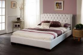 white faux leather bed. Contemporary Leather Limelight Aries White Faux Leather Bed For I