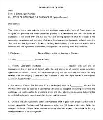 Letter Of Intent Real Estate Impressive Free Model Letter Of Intent For The Purchase And Sale Sample