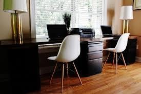 DIY desk for two- Building a sleek desk is easier than you think! File  cabinet desk build your own desk home office desk | Furniture | Pinterest |  File ...