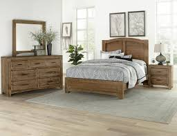 Vaughan-Bassett Cottage Too 4-Piece Mansion Bedroom Set in Grey