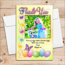 Thank You Easter 10 Personalised Girls Boys Happy Easter Egg Photo Thank You Post Cards N11