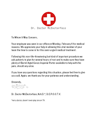 A Doctors Note For Work Medical Doctor Sick Note For Work Free Word Template Doctors Note