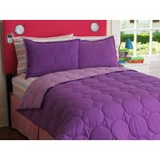 your zone reversible comforter and sham set purple berryiris size