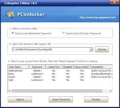 to reset windows 7 pword without