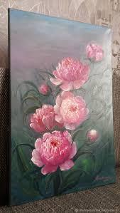 oil painting peonies marina garbuzova my livemaster