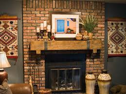 frantic brick wall fireplace mantle decoration ideas that can be for cool mantel decor together with cream table lamp add beauty inside house design