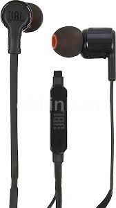 Купить <b>Наушники</b> с микрофоном <b>JBL T210</b>, 3.5 мм, черный в ...