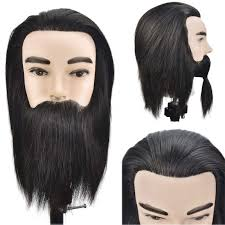 <b>Hot Sale</b> Male Mannequin Head <b>100</b>% <b>Real</b> Human Hair Hairstyling ...