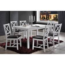 Shop Indoor White And Black Cross Back 7pc Dining Set With A Solid