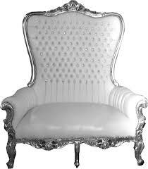 Casa Padrino Barock Doppel Thron Sessel Majestic Weiß