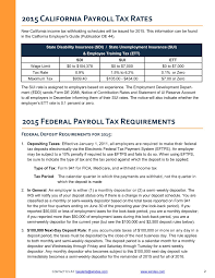 Payroll Tax Charts 2015 Payroll Tax Requirements Windes