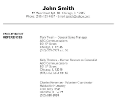 Reference Samples For Resume Reference Samples For Resume Template With References Sample