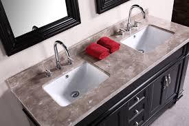 Hudson 60 Double Sink Vanity Set In Espresso Design Element