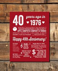 40th anniversary party 40th anniversary by fairplayprintables more