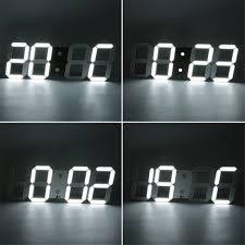 large d modern digital led wall clock  hour display timer