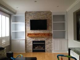 modeling built in wall unit with fireplace ideas