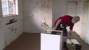 Bunnings Kitchen Cabinet Doors How To Install Base Cabinet Diy At Bunnings Youtube