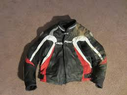 along with the left side of my helmet the left shoulder of the jacket took the biggest hit