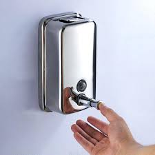 wall mounted soap dispensers stainless steel hand soap dispenser wall mounted shampoo container box