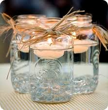 Decorating Mason Jars With Ribbon rustic wedding mason jar centerpieces with a ribbon instead of 10