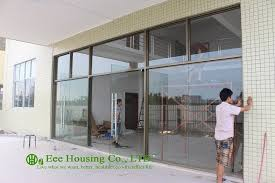 china manufacturer commercial exterior commercial frameless glass doors for apartment