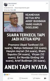 Viral! Ketua KPU Arief Budiman Keturunan Cina Saudara Soe Hok Gie, Pantesan