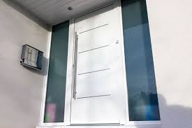 Stunning Modern White Front Door Aluminium Front Entrance Doors Part