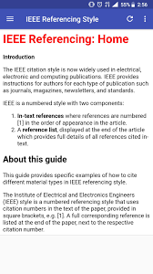 Ieee Reference Style Guide For Android Apk Download