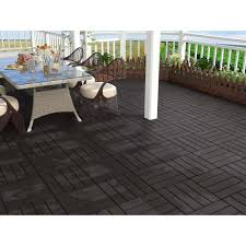 1 ft bamboo composite deck tile in