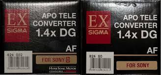 Sigma Teleconverter Matching Adventure Dyxum