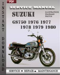 suzuki gs maintenance service repair suzuki gs750 1976 1977 1978 1979 1980 manual