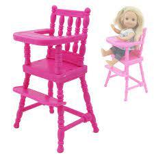 1 Chiếc Màu Hồng Cao Phân Ghế Mẫu Giáo Ăn Tối Phòng Nhà Búp Bê Lắp Ghép Đồ  Nội Thất Cho Búp Bê Barbie Em Gái Cho Kelly Phụ Kiện Búp Bê