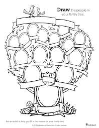 Family Tree Coloring Pages 479352