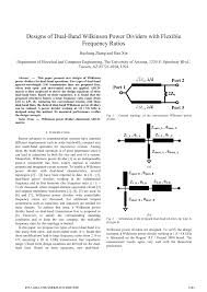 Wilkinson Power Combiner Design Pdf Design Of Dual Band Wilkinson Power Dividers With