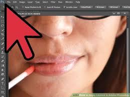 image led apply lipstick in adobe photo step 1