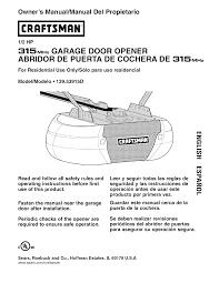 sears craftsman garage door opener installation manual garage door