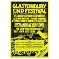 1984 Poster Posters Glastonbury Festival
