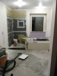 new wall insulation is installed behind the shower new 1 2 wedi