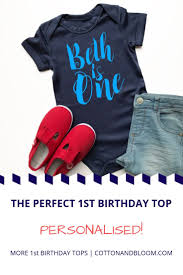 Birthday Vest Design Personalised First Birthday Vest Script Short Sleeved Vest