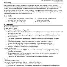 Electrical Foreman Resume Samples Best Multi Talented Machine Operator Resume Example With Work With 22